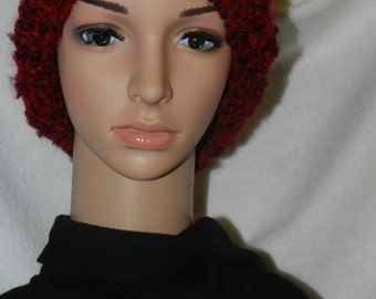 Wine Light  Lofty Chunky Knitted Slouchy Bulky Hat   ET 9092034