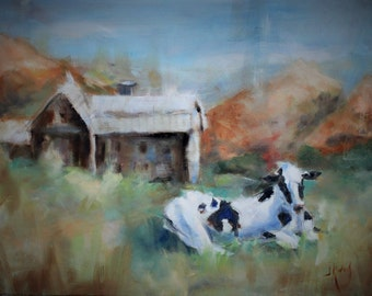 Vermont Cow, 8x10 print on archival fine art paper