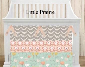 Nursery Bedding Crib Bedding Baby Bedding Bumper Skirt Sheet Set 3 piece Choose your