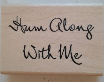 Hum Along Rubber Stamp - 200W01