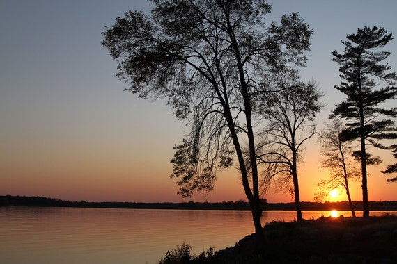 Simcoe (ON) Canada  city pictures gallery : Items similar to Sunset on Lake Simcoe in Ontario, Canada on Etsy
