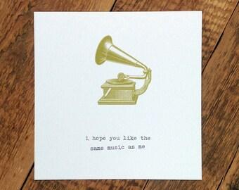 Friendship Card; Card For Friend; Friend Card; Music Card; Loves Music; GC164
