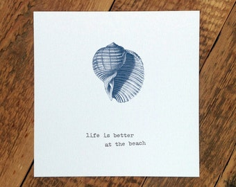 Life Is Better At The Beach Card (GC182)