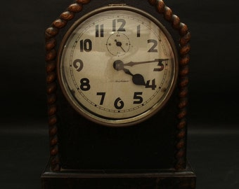 SHIKISHIMA Japanese Vintage Retro Stand Clock with a Key Functioning