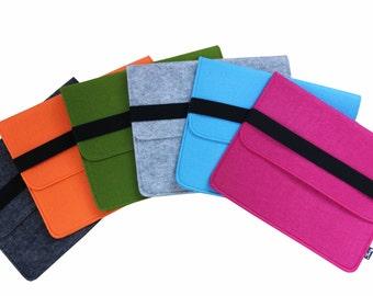 Felt ipad Sleeve iPad 2 3 4 Case New iPad Cover Bag black Elastic Strip QY2003