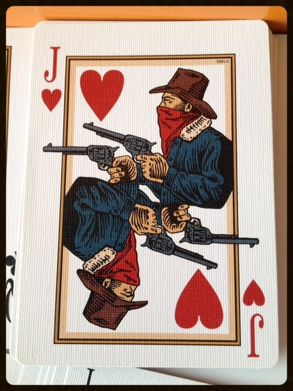 Vintage Playing Cards Branding Iron Western Playing Cards