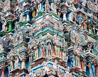Meenakshi Temple, Madurai, India, travel photography, fine art print, architecture, Hinduism, 8 x 10, wall art