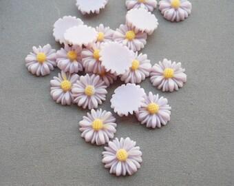 100pcs Iavender Color Resin Sunflower Charms--14mm