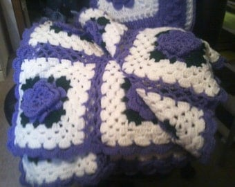 Crochet Pattern Rose Trellis Afghan : Popular items for afghan in a pillow on Etsy