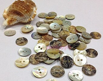 lot of 30 Abalone shell button round 30pcs in