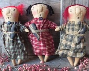 Primitive rag doll tucks