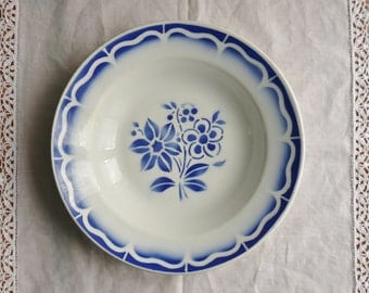 2 old French faience plates
