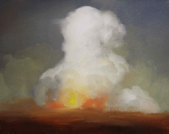 Small Painting of Explosion Cloud