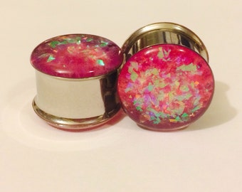 Cute bubble gum glitter plugs