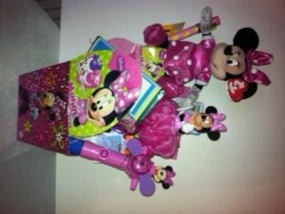 Disney Minnie Mouse Easter Basket Custom Made