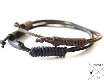 mens bracelets cool waxed cord whit sailors knots