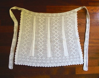 KITCHEN apron 100% cotton handmade crochet, wedding gift idea, Christmas, Mother's Day