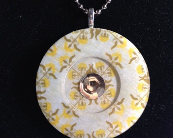 Resin Pendant (2in / Reversible): Reflective Center