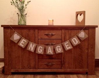 Engaged Vintage Wedding Hessian/Burlap Bunting