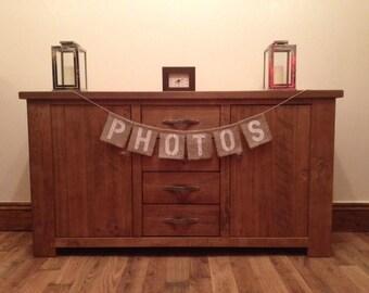 Photos Vintage Wedding Hessian/Burlap Bunting
