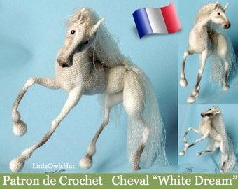 "043e white horse ""White dream""! Amigurumi crochet pattern. PDF file. By Pertseva Etsy"