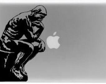 Thinker Rodin Paris laptop decal © 2013 Laced Up Decals SKU:Thinker- 33
