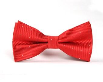 Mens Bowtie.Silk Bowtie. Red Bowtie .Bowtie for Party.Bowtie for wedding.