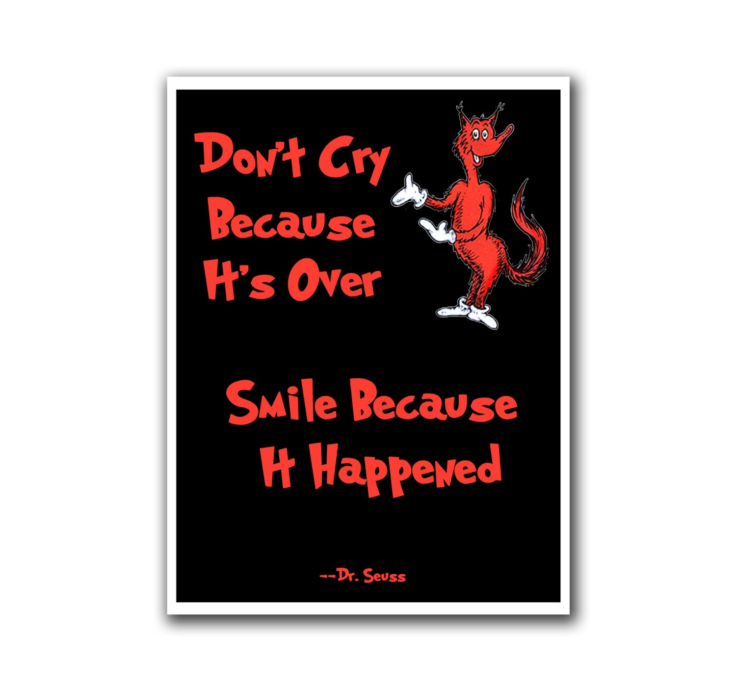 Art Poster Nursery Wall Decor Dr Seuss Poster Smile By