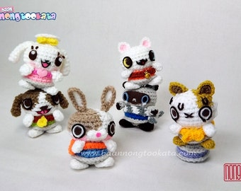Canimals Crochet Doll Pattern, Design by nong