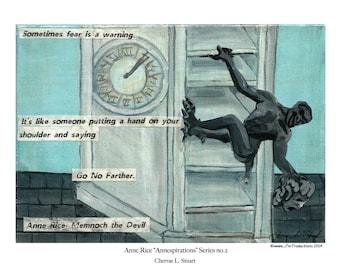 Anne Rice inspired Art Print- Memnoch the Devil, The Vampire Chronicles V