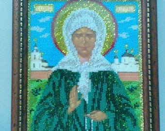 """Icon beads """"Holy Blessed Matrona of Moscow"""""""