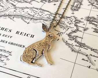 Silver Rabbit Necklace