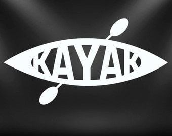 Kayak decal, paddle, sticker, watersport......Cool!!