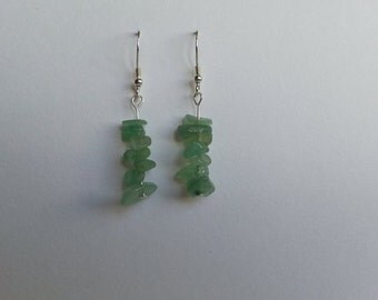 Green Aventurine Nugget Earrings