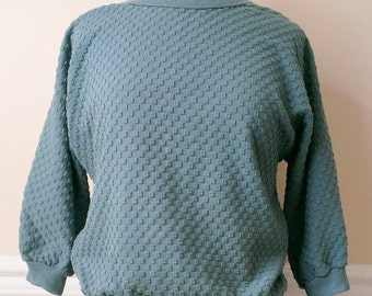 Vintage Green Dolman Sleeve Top