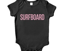 Surfboard Baby Grow Humour Gift Beyonce Inspired Present Baby Shower Birthday