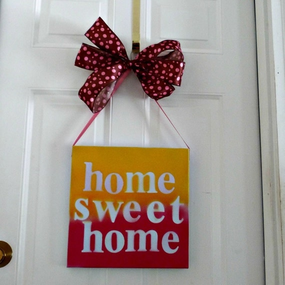 Home sweet home sign wall hanging wall d cor home wall Home sweet home wall decor