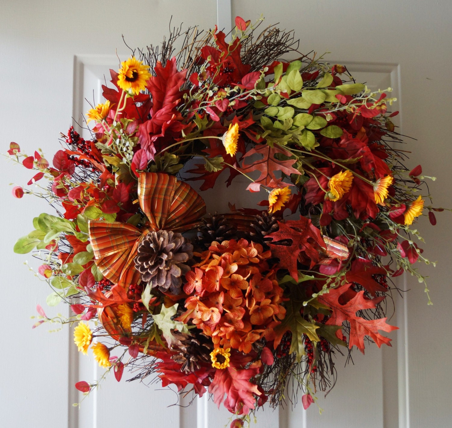Fall Flower Mums: FALL Wreath Mums Flowers Wreath Pine Cones Autumn By