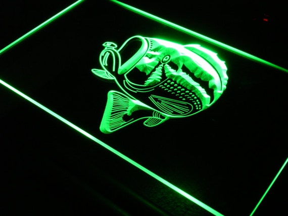 Items similar to s074 fish neon light sign free shipping for Fish neon sign