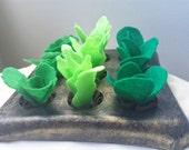 Green Felt Lettuce Plant,Gardener Gift,Garden Home Decor