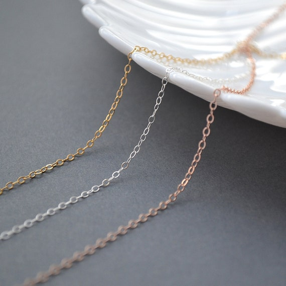 Thin Gold Chain Bracelet: Delicate Chain Necklace / Very Dainty And Thin Gold Chain