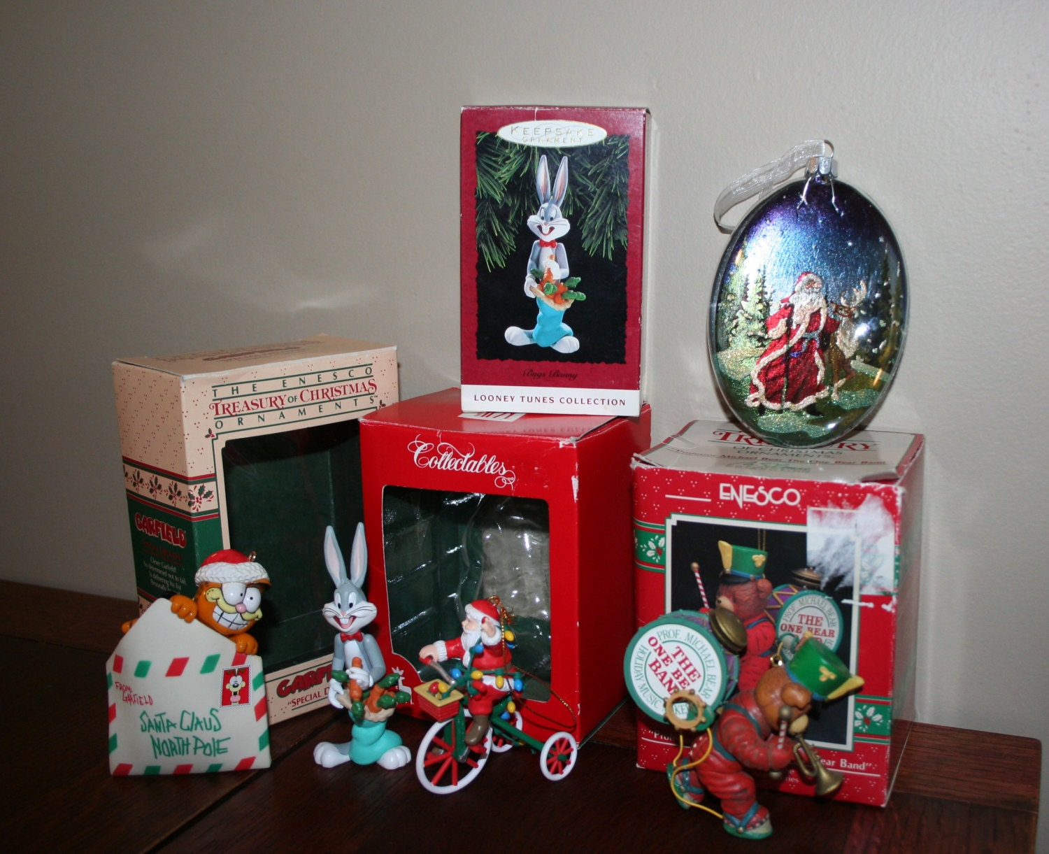 Lot Of 5 Christmas Ornaments From 1980 39 S To 1990 39 S