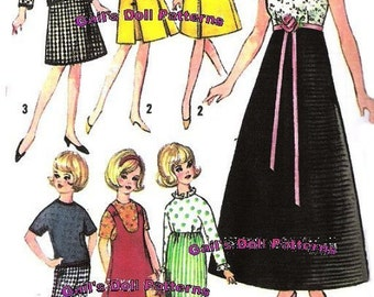 "Wardrobe Pattern for 12"" Teen Dolls such as Tammy and Misty"