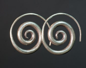 Earrings ethnic silver