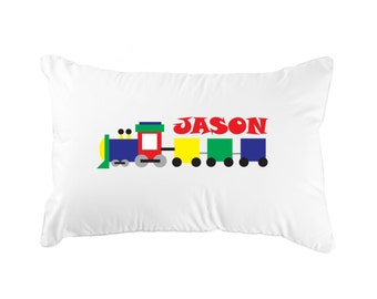 Personalized Train Pillowcase for Child's Room (1)