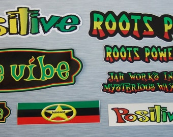 Root Concepts Rasta Sticker Combo Pack