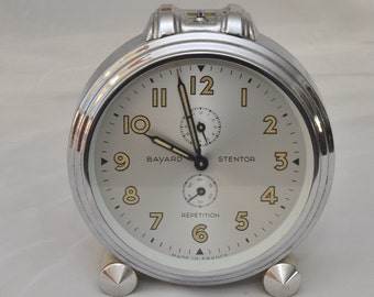 Vintage French Art Deco 1950's BAYARD Stentor Repetition Alarm