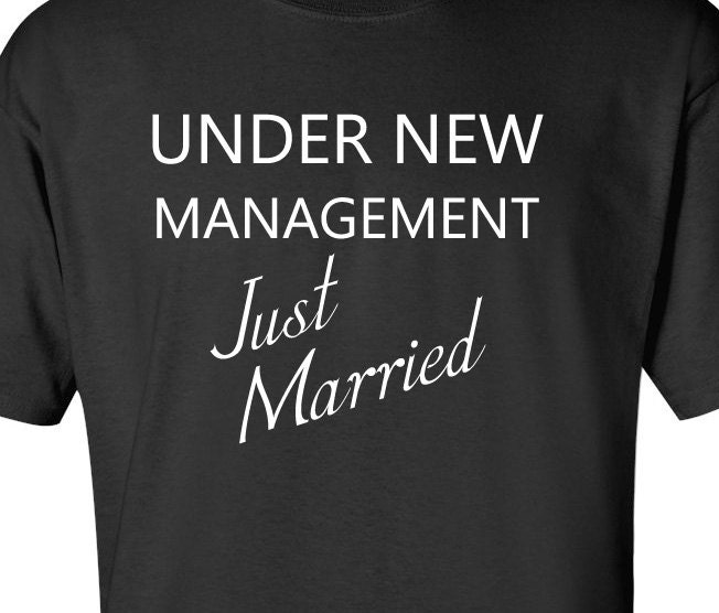 Funny Wedding Gift Wedding Shower Gift Under New Management