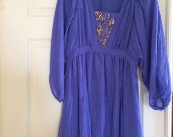 Vintage style silk dress