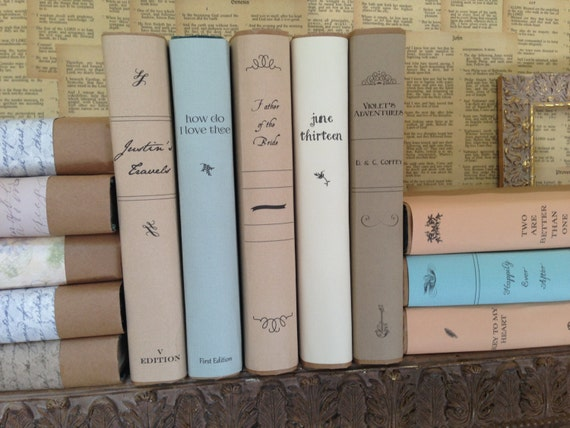 How To Make A Book Dust Cover : Custom book covers personalized dust jacket faux vintage